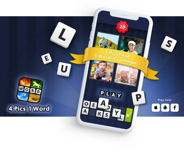 How to Play 4 Pics 1 Word Facebook Game
