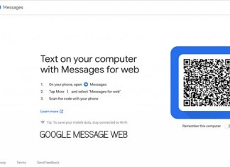 Google Message Web