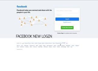 Facebook New Login