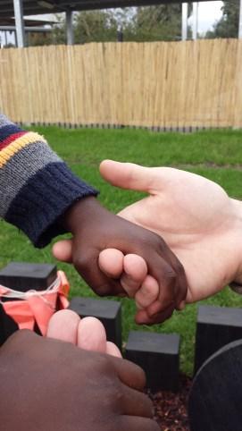 hand holding