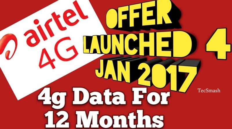 free airtel 4g data
