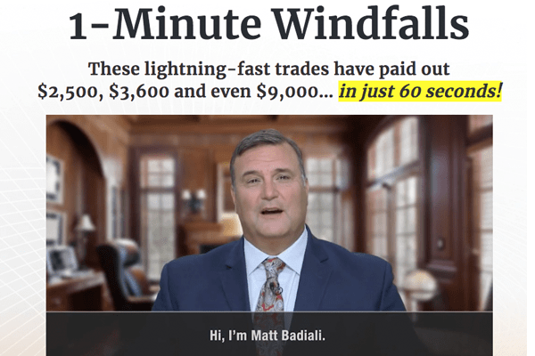 1 Minute Windfall Review