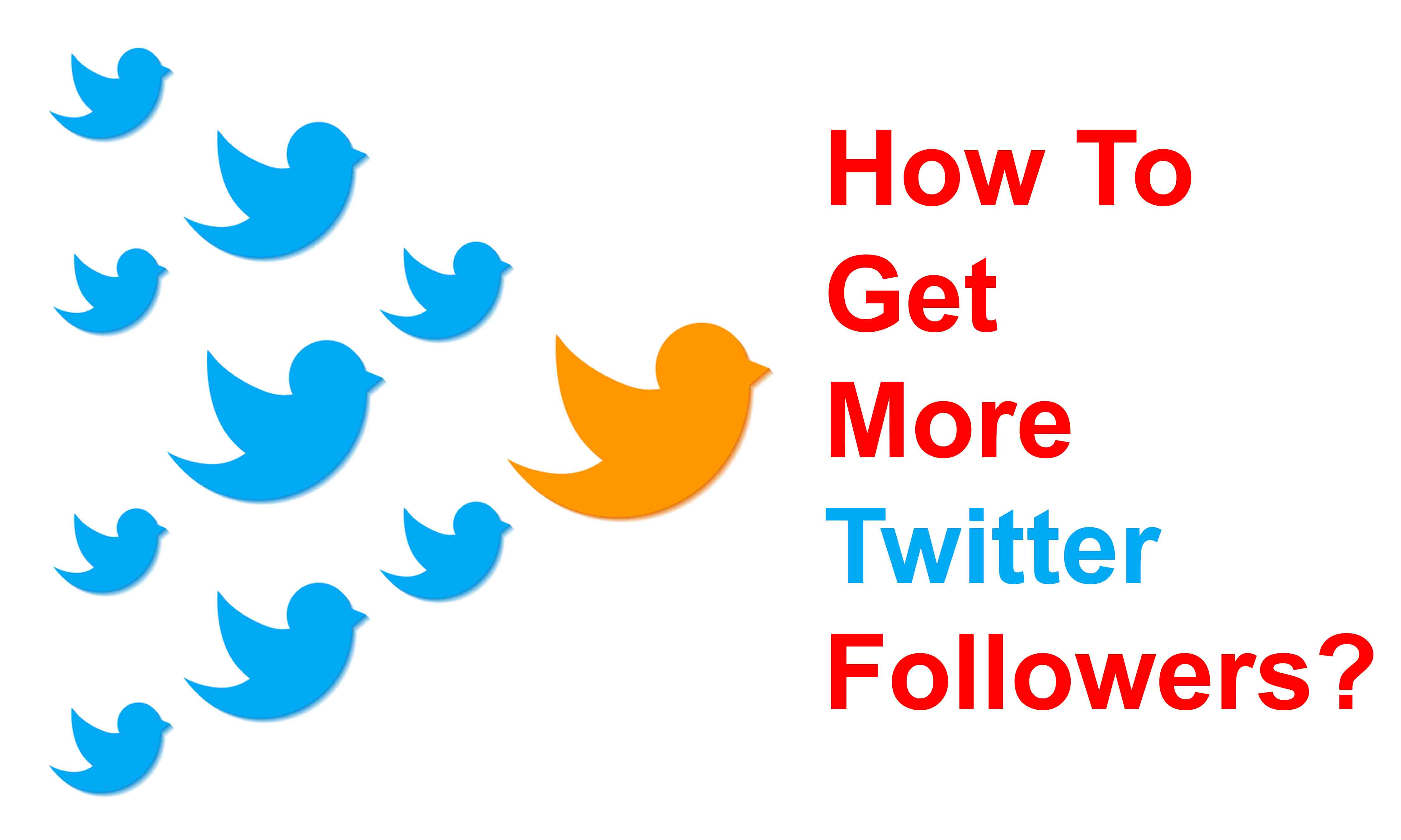 How to increse twitter followers