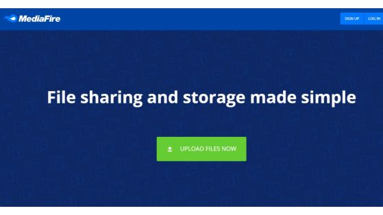 Does Mediafire allow the user to store a large amount of data?