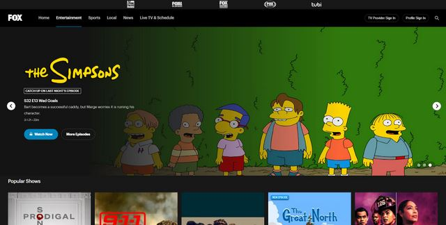 Fox - watch cartoons online