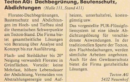 Swissbau 91, 29.1.-3.2.91, Basel