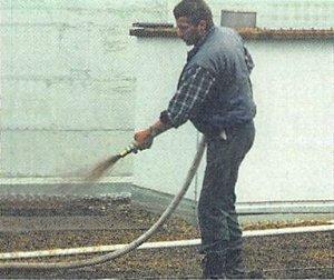 Anspritzbegrünungen für extensive Dachbegrünungen