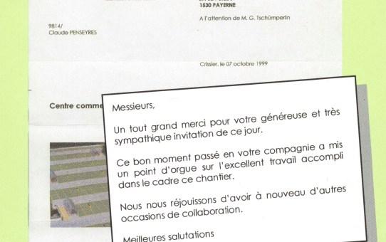 Gratulationsschreiben MMM Crissier (VD) Parkdeckbeschichtung