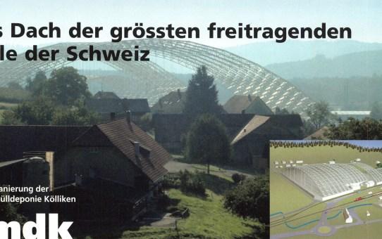 Das Dach der grössten freitragenden Halle der Schweiz