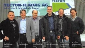 TECTON-Fladag AG, ein Jahr nach der Fusion