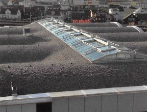 Gewölbtes Dach für Migros Einsiedeln