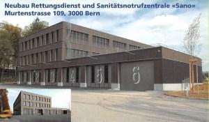 """Neubau Rettungsdienst und Sanitätsnotrufzentrale """"Sano"""""""