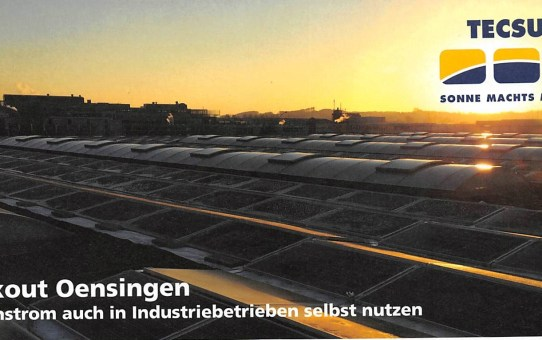 Blackout Oensingen - Sonnenstrom auch in lndustriebetrieben nutzen