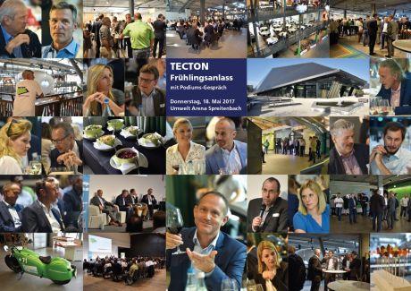 TECTON Frühlingsanlass mit Podiumsgespräch vom 18. Mai 2017 in der Umwelt-Arena Spreitenbach