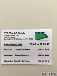 Impressionen aus der TECTON-Foto-Cloud 2018-08