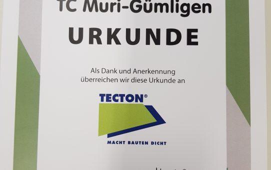 TECTON Bern unterstützt den Tennis Club Muri Gümligen