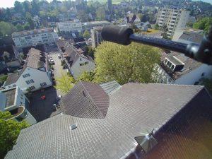 s'Drooni unterwegs im 2017 über Binningen (BL)