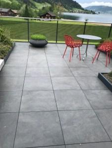 Verlegung Terrassenplatten