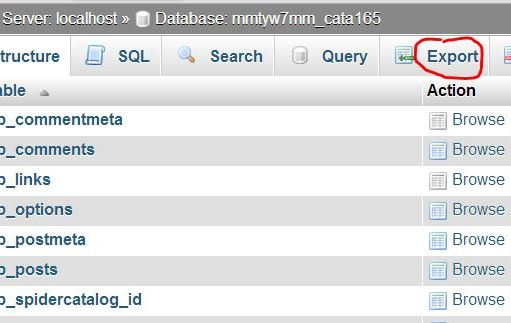 Select database by click on it
