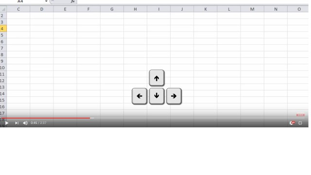 Solution - Up down arrow keys not working for next cell