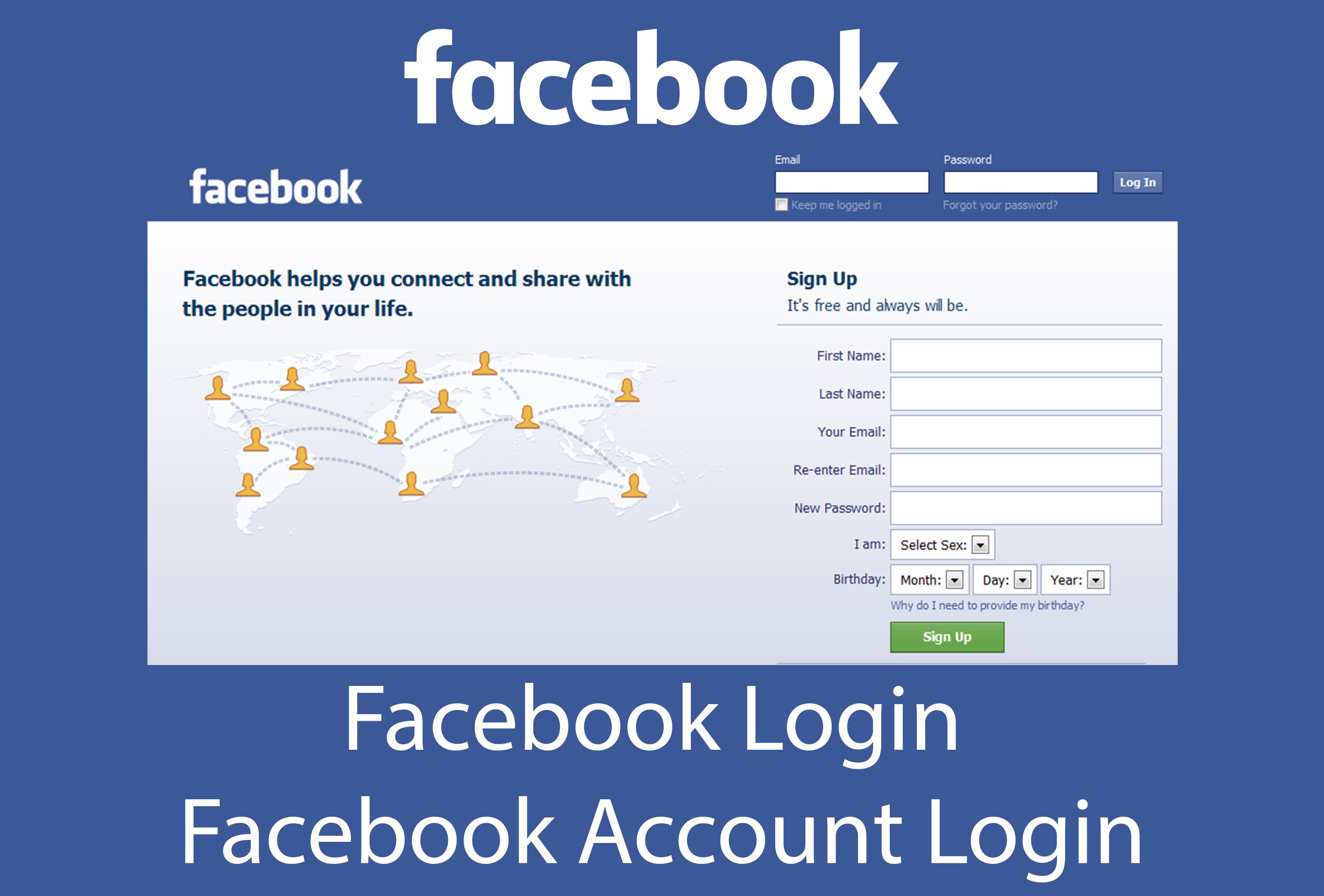 My facebook login sign up