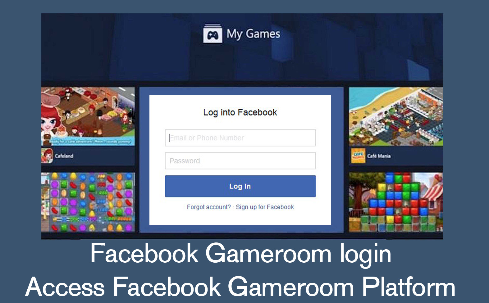 Facebook Gameroom login - Access Facebook Gameroom
