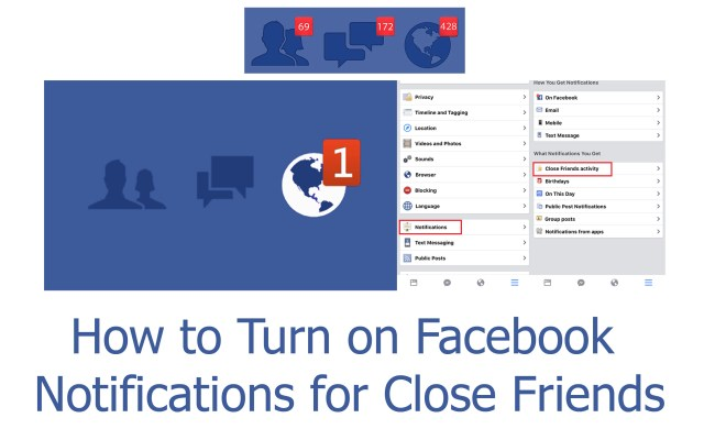 Turn on Facebook Notifications - How to Turn on Facebook Notifications for Close Friends