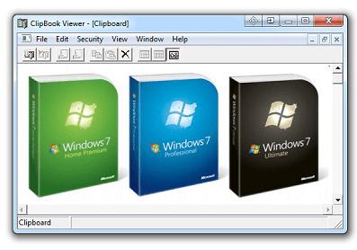 Clipboard in windows 7