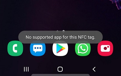 No Supported App For This Nfc Tag