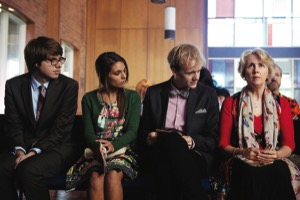 Thomas Ward, Caitlin Stasey, Josh Thomas and Debra Lawrance in Please Like Me
