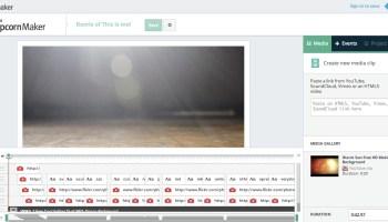 Mozilla Popcorn Maker editing window