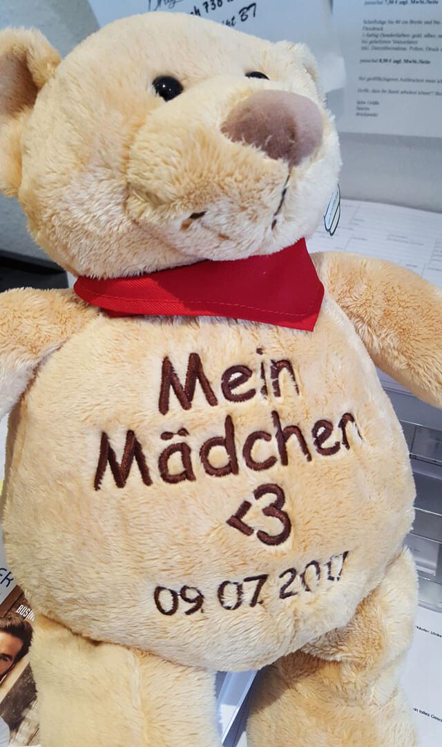 Teddy mit Liebeserklärung