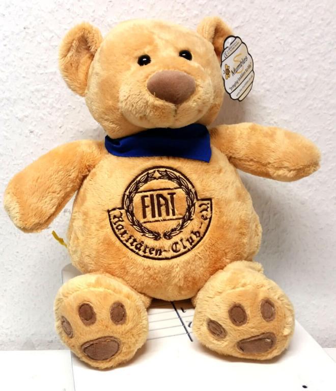 Teddy mit Fiat Rariäten Club Logo