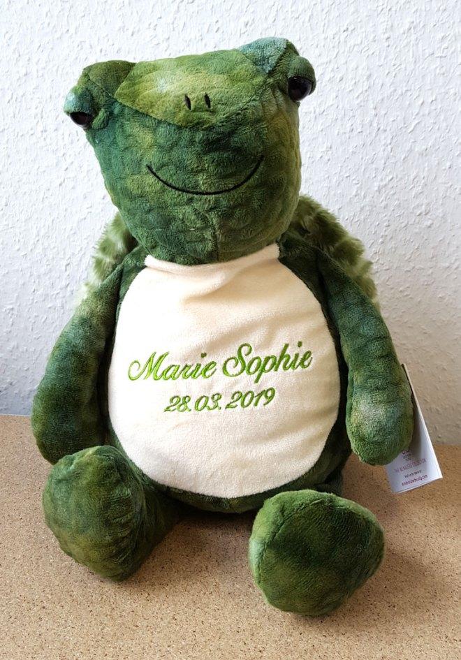 Plüschtier Schildkröte mit Namen