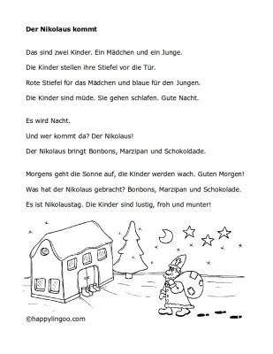 Text: Der Nikolaus kommt