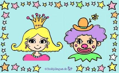 Bildkarten Karnevalskostüme