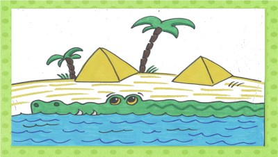 Bildkarten: Krokodil vom Nil