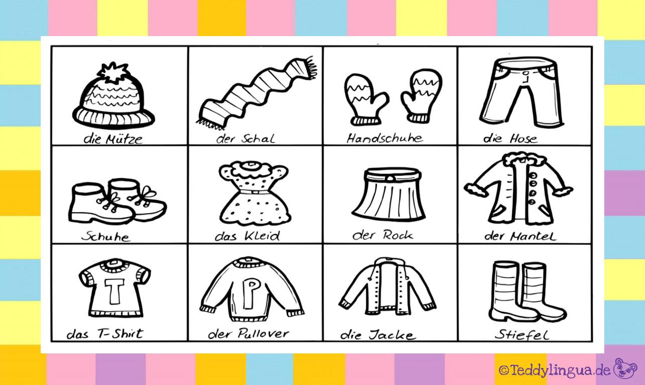 Kleidung | Teddylingua