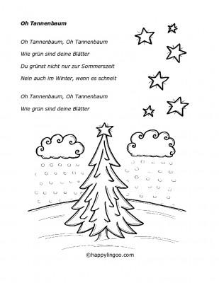 Text zum Lied: Oh Tannenbaum