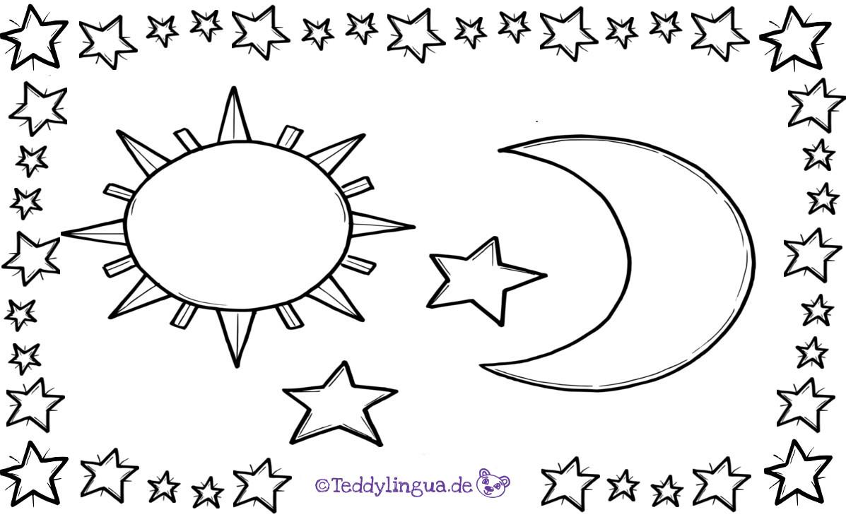 Ungewöhnlich Mond Und Sterne Malvorlagen Zum Ausdrucken Bilder ...