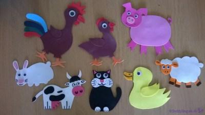 Tiere aus Moosgummi 1