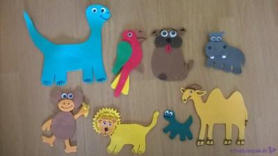 Tiere aus Moosgummi 3