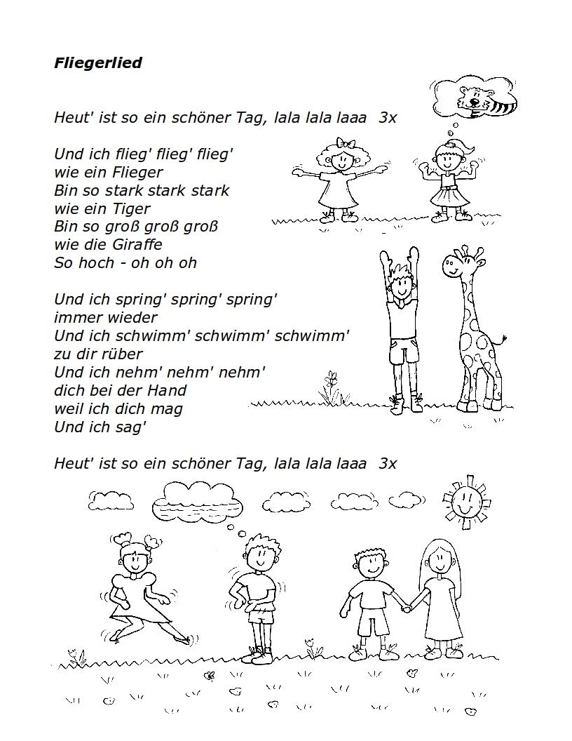 Fliegerlied Kinder