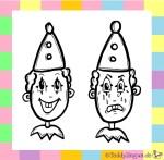 Lachender und weinender Clown