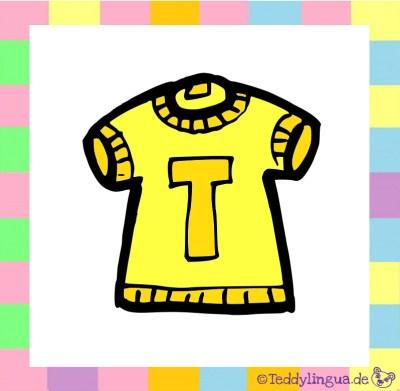 ein gelbes T-Shirt