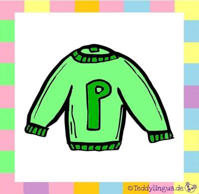 ein grüner Pullover
