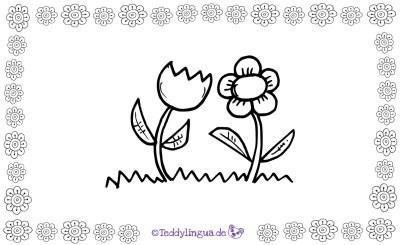 Blumen zum Ausmalen