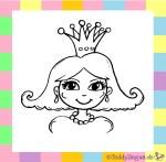Karnevalskostüm Prinzessin zum Ausmalen