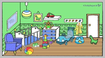 grünes Babyzimmer