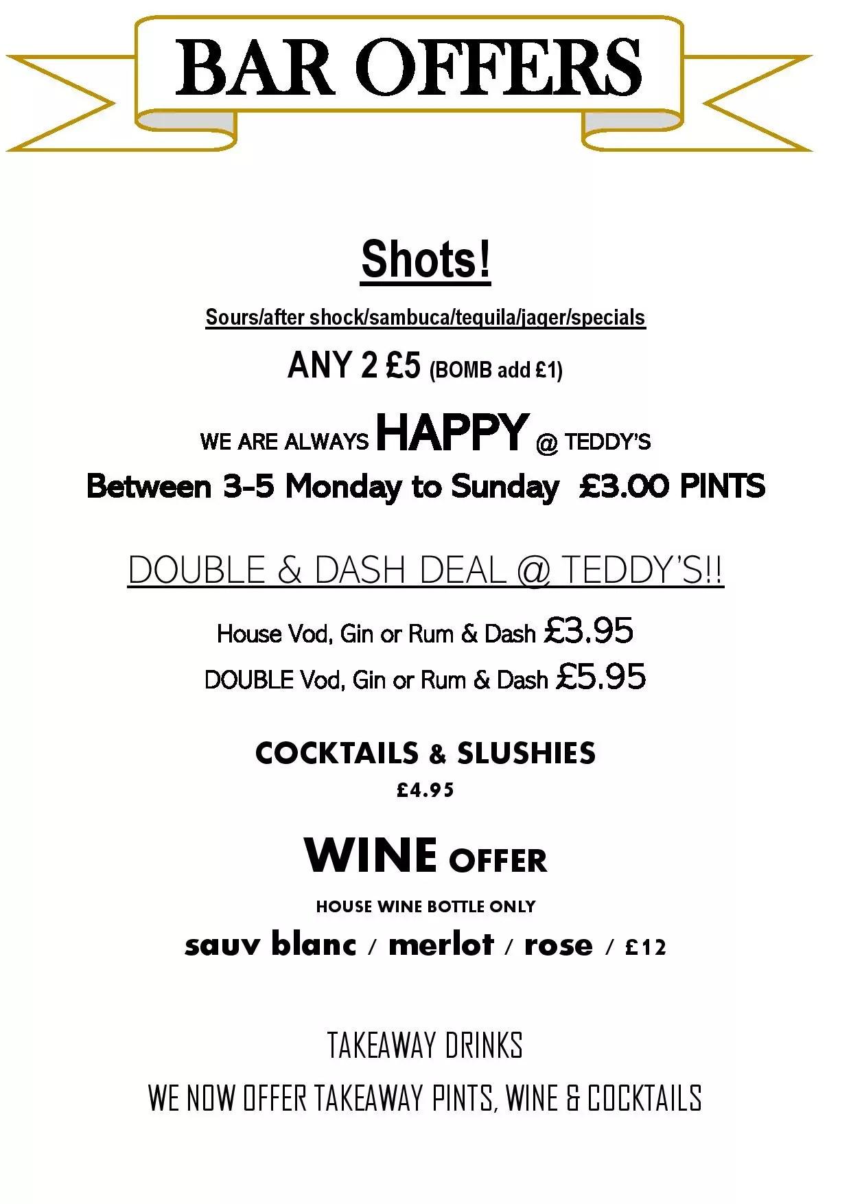 Teddys bar deals